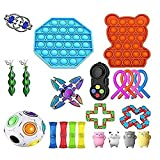Gooldu 30 Pack Sensory Fidget Toys Set Squishy for Stress Anxiety Relief Toys for Focus & Calm Autistic Children, Adults, Anxiety Autism to Stress Relief and Anti Anxiety… (A 23pc)