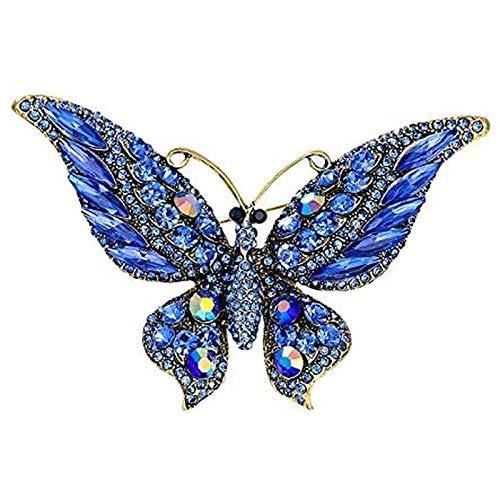 Olcubd Brooophysique New Estantes de Varios Cristales de Color Mariposas, Agujas y broches Accesorios de Abrigo de Invierno Regalo 2 unids