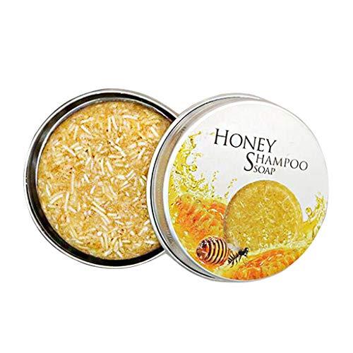 Jabón artesanal, champú sin aceite de silicona, salud natural, hidratante, anticaída (Miel) (05)
