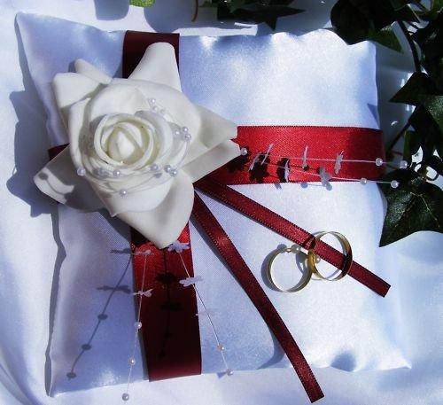 Ringkissen im Shop auch Hochzeitskerze K-04 20/20 cm
