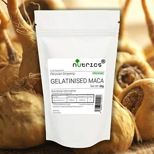 Nutrics Gelatinised MACA Root Extract 200g Powder Peruvian Ginseng 100% Pure 5:1