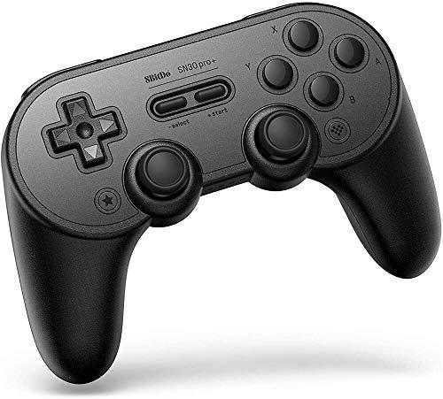 8BitDo SN30 Pro + Bluetooth Gamepad Wireless-Controller für Nintendo Switch, Himbeer-Pi mit Griff, Analogauslöser, abnehmbarer Akku, belegbare Tasten, Gyro, Bewegungssteuerung, Dpad, Rumpeln (B)