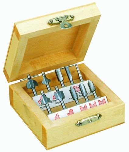 PROXXON 29020 Holzprofilfräser-Set, 10-teilig mit Holzkästchen