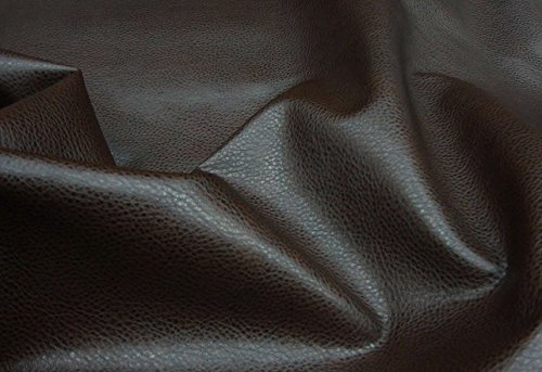 """Upholstery Vinyl Faux Leather Vinyl Dark Brown Ford Fabric Per Yard Sold BTY 54"""" Wide Ships Rolled"""