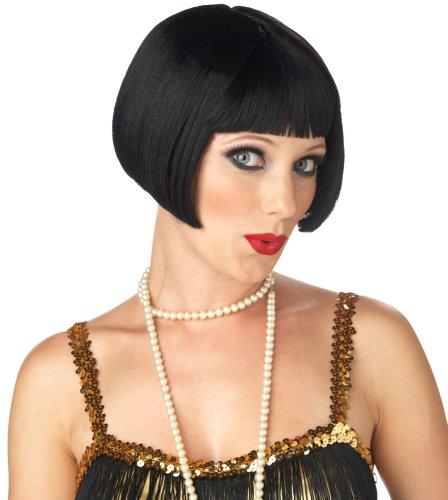 California Costume Women's Flirty Flapper Wig, Black, ADULT