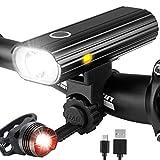 Leynatic Luz Bicicleta, Luces Bicicleta Recargable USB, Lámpara Bicicleta...