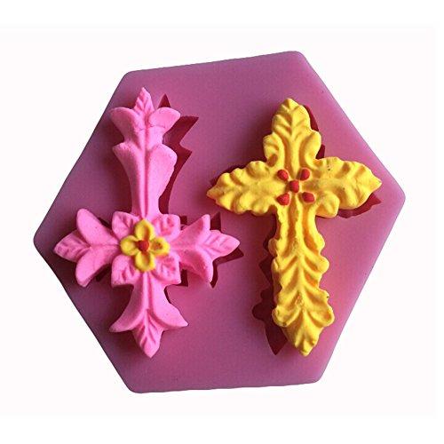 Karen Baking Snowflakes Fondant Silicone Mold 3D Mold Cake Tools Décoration de gâteau au savon Rose