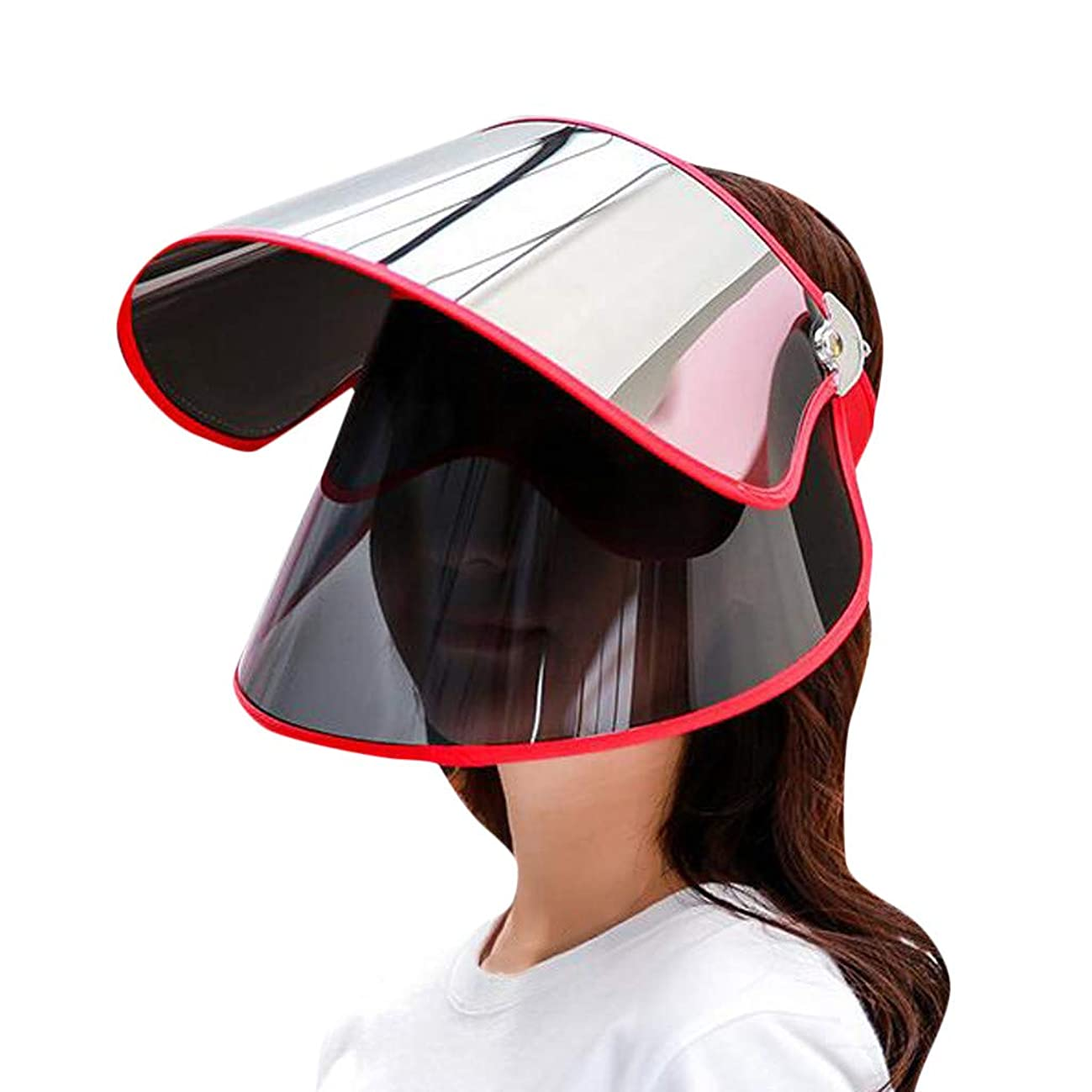 ?LOVESOO? Womens Sun Hat Summer Sun Anti-UV Protection Double Layer Outdoors Cycling Cap Face Flap Cover UPF+ 50