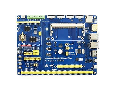 Waveshare Compute Module IO Board Plus Development Board for Raspberry Pi Compute Module 3/3+/3 Lite/3+ Lite Composite Breakout Board