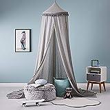 Womeet Mosquiteras Ropa de cama para bebés, cúpula redonda, dosel, red,...