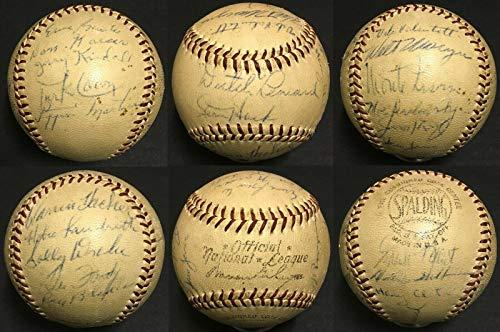 1956 Chicago cubs signed NL Baseball 21 Auto Ernie Banks Monte Irvin PSA/DNA LOA - Autographed Baseballs