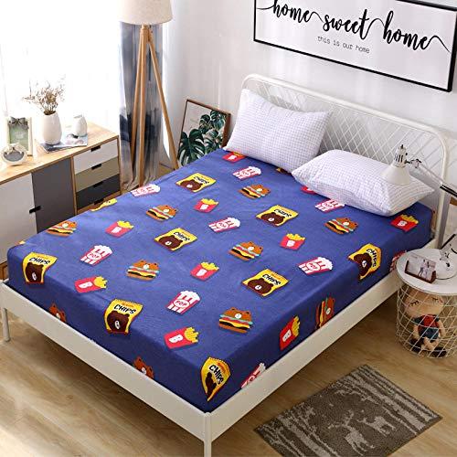 CYYyang Protector de colchón de Rizo algodón y Transpirable Hoja de Cama de Dibujos Animados Paquete Completo de una pieza-27_150 * 200 + 15
