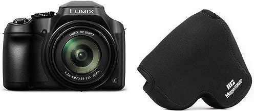 PANASONIC LUMIX FZ80 4K Digital Camera, 18.1 Megapixel Video Camera, 60X Zoom DC Vario 20-1200mm Lens, F2.8-5.9 Aperture & MegaGear Panasonic Lumix DC-FZ80, FZ82 Ultra Light Neoprene Camera Case