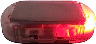 ZHUOTOP Alarme de Voiture Anti-vol sans Fil Factice Lampe Solaire LED Avertissement Imitation S/écurit/é pour la Nuit Rouge
