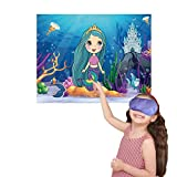 M MISS FANTASY Mermaid Games Pin the Tail on the Mermaid with 24 Reusable Tails Mermaid Party Games for Kids Mermaid Gifts for Girls Under the Sea Party Favors Mermaid Birthday Party Supplies