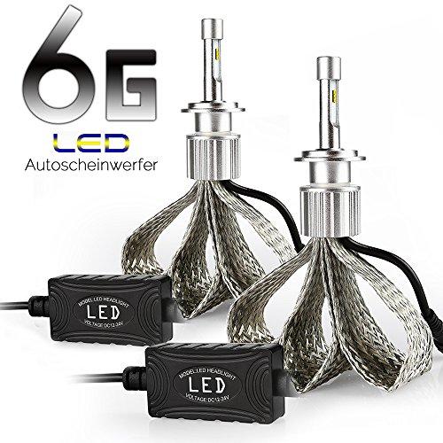 AFTERPARTZ H7 LED Headlight, Weiß, Set de 2