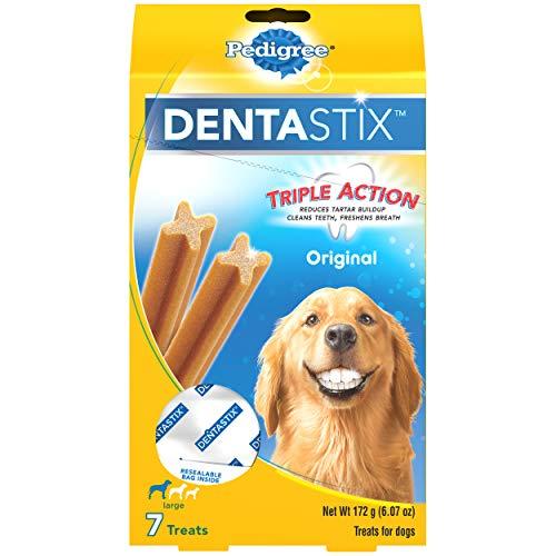 PEDIGREE DENTASTIX Large Dog Dental Treats Original Flavor Dental Bones, 6.07 oz. Pack (7 Treats)