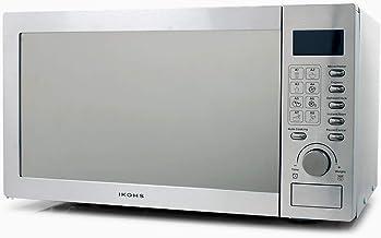 IKOHS Microondas HW800S Plateado - Microondas, 800W,Capacidad de 23L, 5 Niveles de Potencia, Temporizador hasta 30 minutos, Menú Automático 8, Cocción Multifrecuencia, Dispone de Reloj Digital