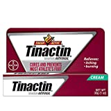 Tinactin Athlete's Foot Cream, Tolnaftate 1%, Antifungal, AF Treatment, Proven Clinically Effective on Most Athlete's Foot and Ringworm, Cream, 1 Ounce, 30 Grams, Tube