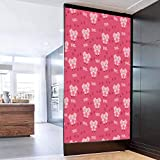 3D Door Mural Decorative Wallpaper Stickers Pig Decor Square Cartoon Pig Hog Cheering Greeti Removable Self Adhesive Wall Decal for Home Decoration 23.6 x 35.4 in