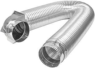 Builder's Best 084718 All Metal SAF-T Single Elbow Dryer Vent Duct Kit, UL Listed, 4