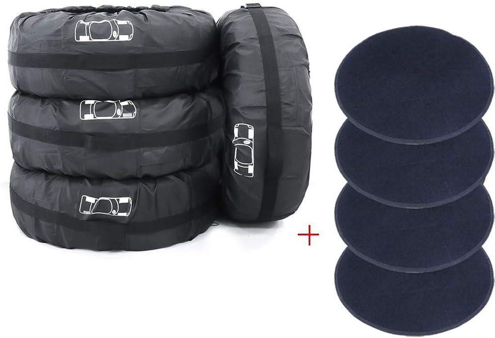 UCARE 4pcs Spare Tire Covers Detroit Mall Waterproof Oxford Superlatite 420D Adjustable S
