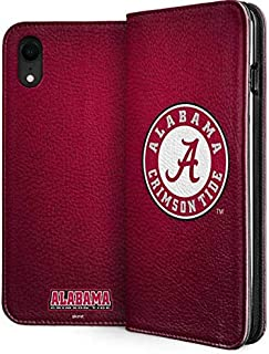 Skinit Folio Phone Case for iPhone XR - Officially Licensed College University of Alabama Seal Design