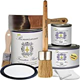 Renaissance Furniture Paint Chalk Finish Paint RFP-DSKit, Deluxe Starter Kit, Snow 01, 32 Ounces