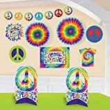 amscan Feeling Groovy 60's Theme Party Psychedelic Decorating Kit (10 Piece), Multi Color, 15.6 x 10.9