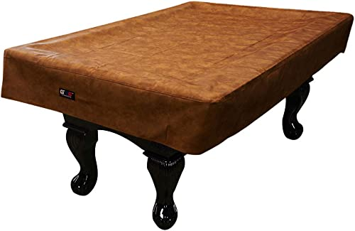 7'/8'/9' Heavy Duty Leatherette Billiard Pool Table Cover (Several Colors Available) (Russet - 7ft)