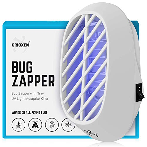 Crioxen Indoor Plug-in Bug Zapper - Mosquito Trap with UV Light - Indoor Mosquito Killer - Electric Insect Repellent - Gnat Trap for Mosquitoes Fruit Flies and Flying Gnats (1x)