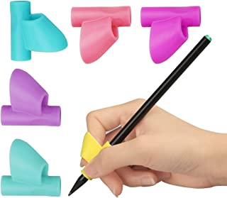 Green Convenience Pencil Grip for Kids, 6 Packs Pencil Grip Writing Claw Training Writing Aids Claw Correction Finger Grip for Kids Preschoolers Children Adults Students -Special Needs