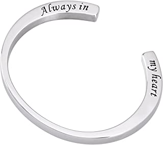 Engraved Memorial Urn Bracelet Stainless Steel Cremation Urn Bracelet Ashes Keepsake Jewelry