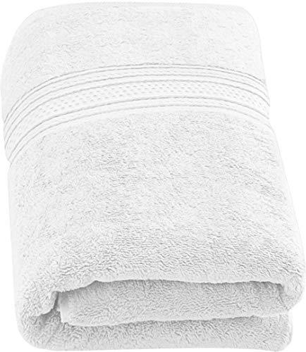 Utopia Towels - Badetuch groß aus Baumwolle 700 g/m² - Duschtuch, 90 x 180 cm (Weiß)