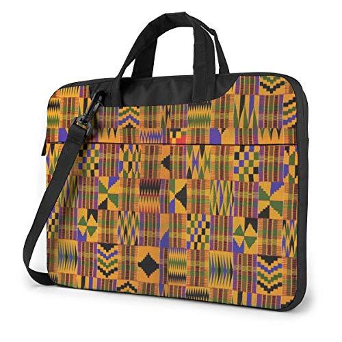 XCNGG Shockproof Laptop Bag Kente Cloth Weaving Shoulder Messenger Bag Tablet Carry Handbag for Business Trip Office