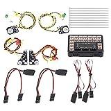 Dilwe RC LED Luz, RC Modelo LED Luces Set Grupo de L¨¢mparas para Traxxas TRX-4 Crawler Car