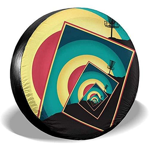 WCHAO Spinning Disc Golf Basket Reserveradabdeckung Wasserdicht, staubdicht, passend für viele Fahrzeuge