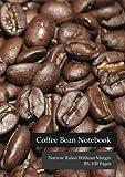 Grano de Café-Cuaderno de rayas sin margen estrecho, B5, 100páginas