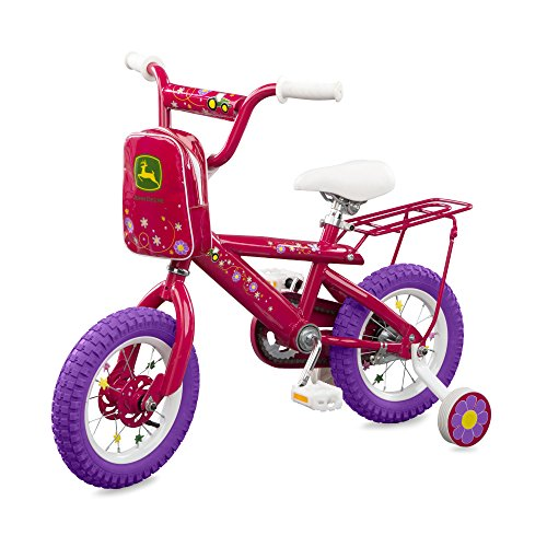 TOMY John Deere Bicycle for Girls, Pink, 12 Inches