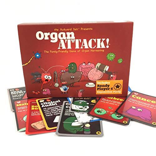 GXLO Ataque de órganos Juego de Cartas Jugando Tarjeta Divertido Divinación Juguetes Juego de Mesa Inglesa para Family Friend Party Entertainment