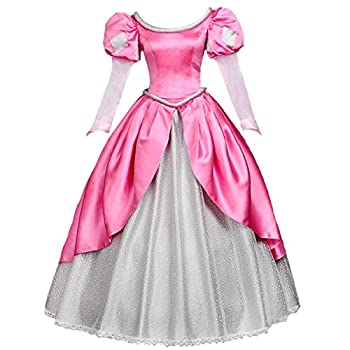 Angelaicos Womens Princess Dress Lolita Layered Party Costume Ball Gown  L Pink