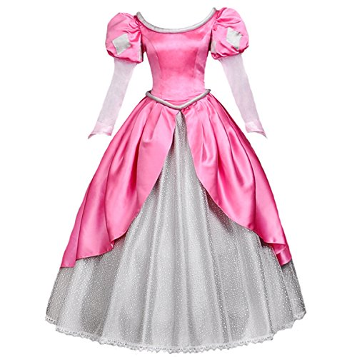 Angelaicos Womens Princess Dress Lolita Layered Party Costume Ball Gown (L, Pink) - http://coolthings.us