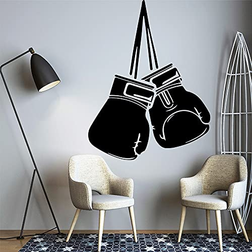 DIY pegatina de pared creativo guante de boxeo pegatina artística impermeable pegatina de pared vinilo pared arte calcomanía decoración de dormitorio 43x56cm