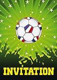 Edition Colibri 10692 FR - Biglietti di invito in francese per compleanno di bambini o per una partita di calcio (12 pezzi)