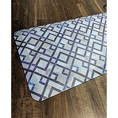 Anti Fatigue Comfort Floor Mat By Sky Mats - Commercial Grade Quality Perfect for Standup Desks, Kitchens, and Garages - Relieves Foot, Knee, and Back Pain (20x39x3/4-Inch, Blue Diamonds)