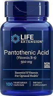 Life Extension Pantothenic Acid (Vitamin B-5) 500 mg, 100 Vegetarian Capsules