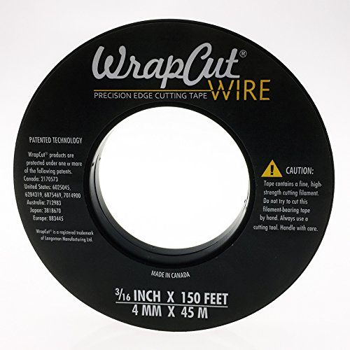 Langeman Manufacturing, WrapCut WireTM, nastro da taglio per pellicole spesse, 4 mm x 45 m