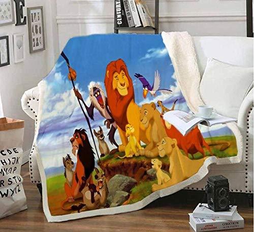 ZKPYZ Kuscheldecke König der Löwen Bedruckte Fleecedecke für Betten Dicke Steppdecke Tagesdecke Sherpa Decke Decke Erwachsene Kinder Büro Nap Decke (N) 150x200cm