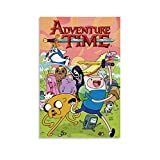 Aventura Anime Poster Marceline and Finn Canvas Art Poster Picture Modern Office Family Bedroom Poster Decorative Posters Gift Wall Decor Painting Posters