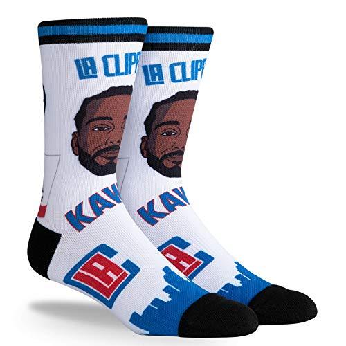 PKWY Kawhi Leonard LA Clippers #2 Unisex 1-Pack NBA Pins Player Socks (Large)